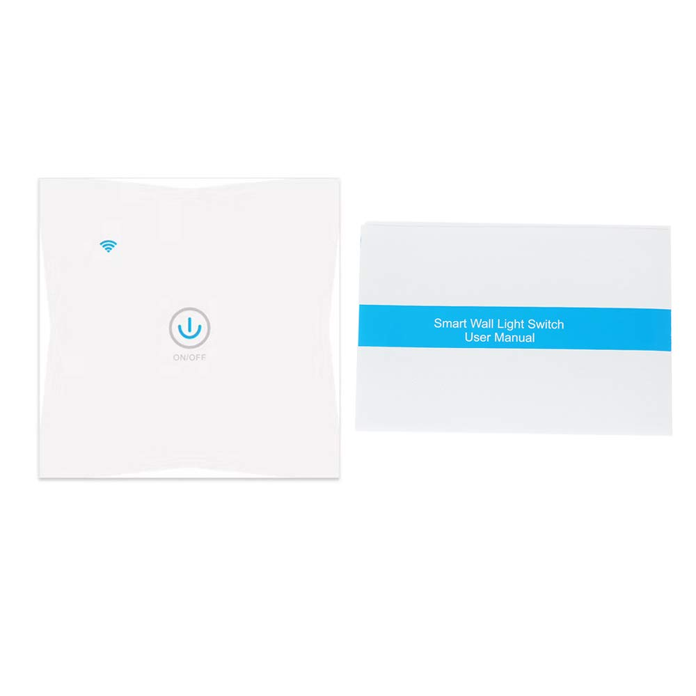 Festnight APP Tuya//Interrupteur Tactile Touch Panel Interrupteur Tactile WiFi Smart Wall avec Panneau de Verre 2 Panneaux Mobiles