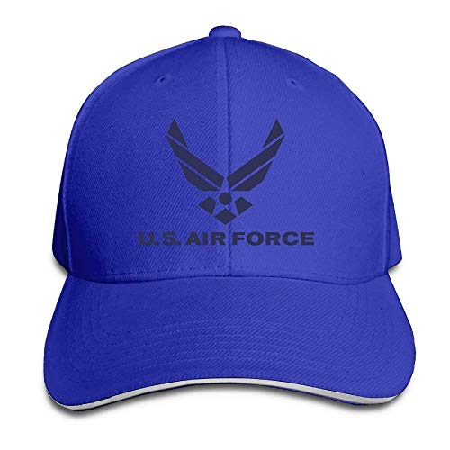 Adjustable Hat Cool Air Force Logo Snapback Trucker Golf Hats Baseball Dad Caps for Men/Women Blue
