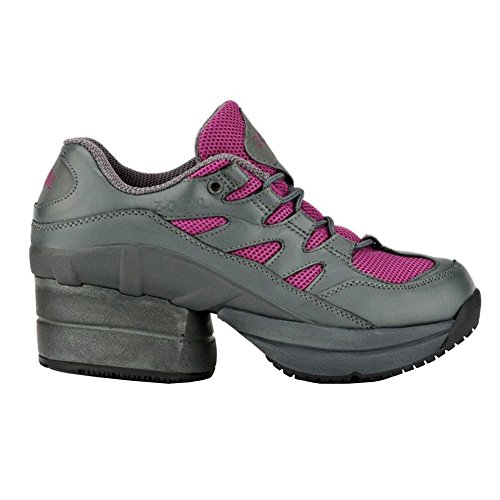 Z-CoiL Women's Freedom Slip Resistant Enclosed CoiL Fuchsia Leather Tennis Shoe 8 C/D US by Z-CoiL (Image #1)