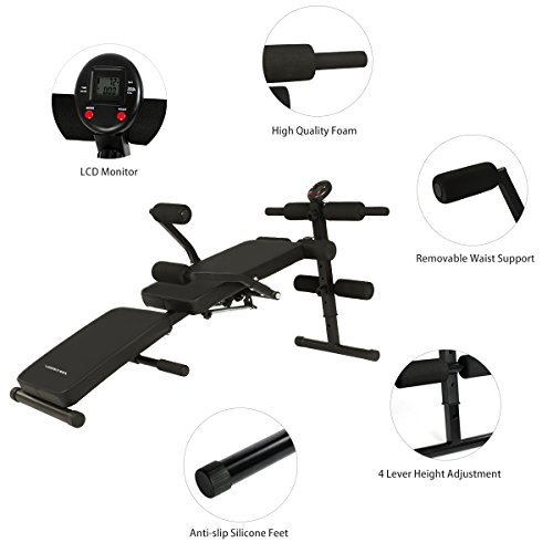 b1992d6d01c6d Multi-Purpose Sit Up Bench with Waist Back Support, Incline Decline ...