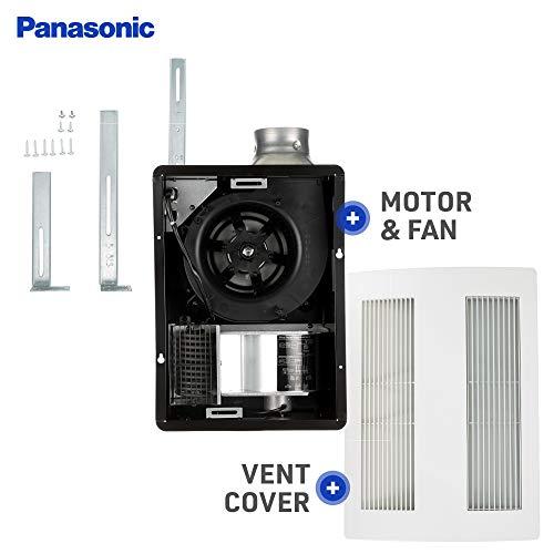 Panasonic FV-11VH2 Whisper Warm 110 CFM Ceiling Mounted Fan, Heat Combination, White/Cream