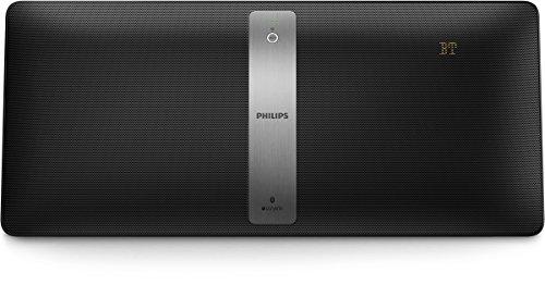Philips BM50B/10 Kabellose Multiroom Flat-Stereoanlage (izzy System, Bluetooth/CD/UKW/USB, 40 Watt) schwarz