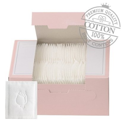 SoonSom Korea - Embossed Cotton Pads made with 100% natural cotton 100pc (White Cotton) BM Korea