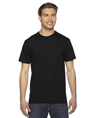American Apparel 2001W Unisex Fine Jersey Short-Sleeve T-Shirt Black L