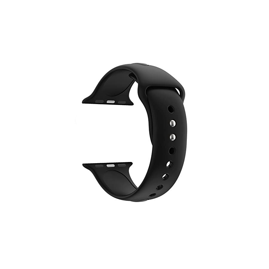 HUANLONG Soft Silicone Sport Style Replacement Band Iwatch Strap for Apple Wrist Watch Series 1 Series 2 Series 3