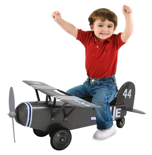 Morgan Cycle Army 44 Airplane Childs Ride-On Scooter, Grey