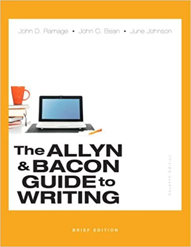 Amazon com: The Allyn & Bacon Guide to Writing, Brief