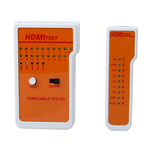 Hdmi Cable Tester (Optimal Shop Portable 9 LED Indicators HDMI High Definition Cable Tester Tool with Storage Case T0708 T15)