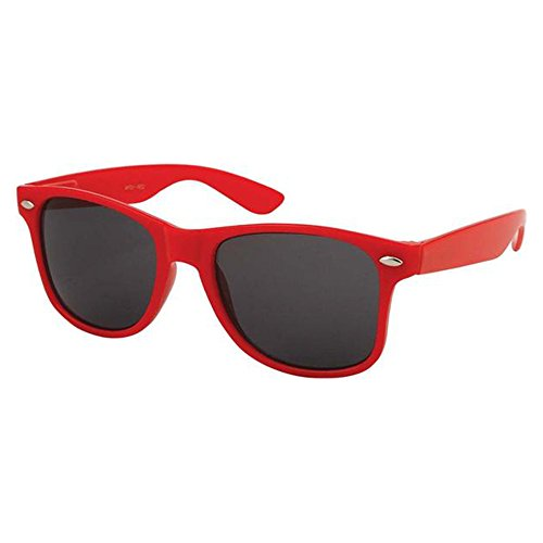 Epic Brand Wayfarer Sunglasses Collection for Men and Women | Classic 80's Retro Vintage Fashion Timeless Style (Red, Black 52mm - Sunglasses Brand Vintage