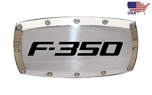 Ford F-350 2 Tow Hitch Cover Plug Engraved Billet Aluminum