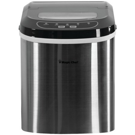Magic Chef Portable Countertop Ice Maker, Stainless (Wine Refrigerator Magic Chef compare prices)