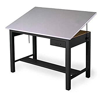 Economy Ranger Four Post Table in Black w Tool drawer (Small)
