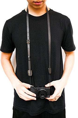 ERIC KIM NECK STRAP - Handmade Premium Leather Camera Strap, Fits Ricoh - Micro 4 3rds Camera Olympus