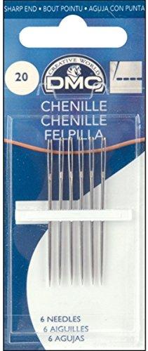 DMC 1768-22 Chenille Hand Needles, 6/pkg, Size 22