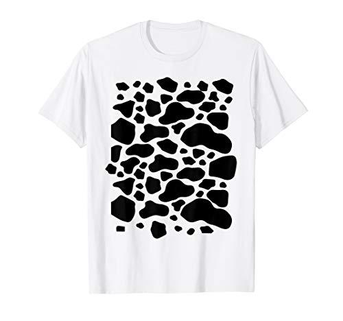 Cow Costume Shirt DIY Funny Animal Halloween Costume T-Shirt]()