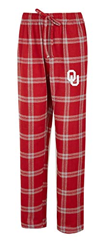 Concepts Sport University of Oklahoma Sooners Men's Pajama Pants Plaid Pajama Bottoms (Large)