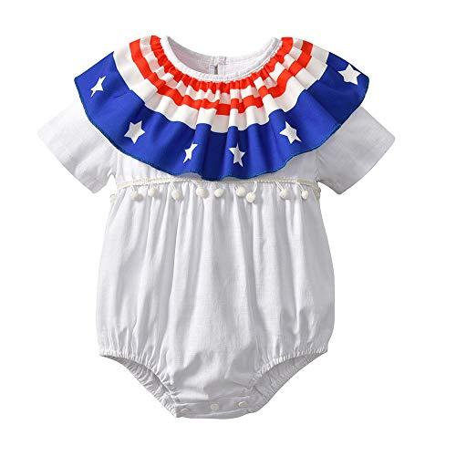 Baby Boy Patriotic 48th of July Outfits,Sleeveless T-Shirt Top+Harem Pants (Right Corner Bathtub)