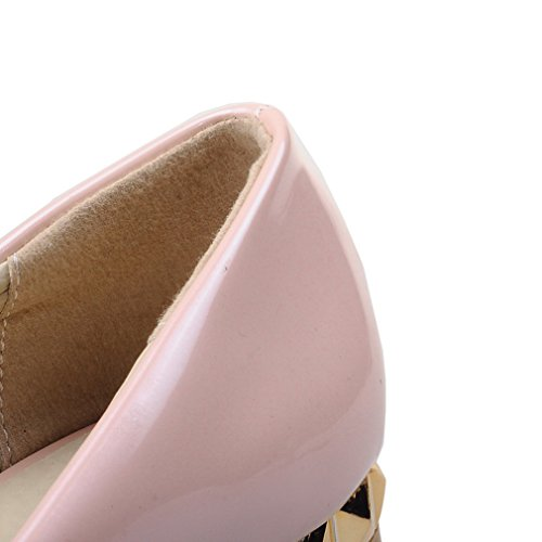 Solid Flats With Toe Rhinestone Heel Womens Pointed Pink ENMAYER Low pZBqYwXw6