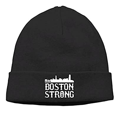 Boston Strong City Skyline Printed Gift Head Cap Snapback Cap Hip Hop Hat Knit Cap from LCUCE