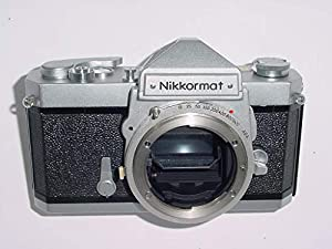 Nikon Nikkormat FT chrome body SLR film camera; no lens included