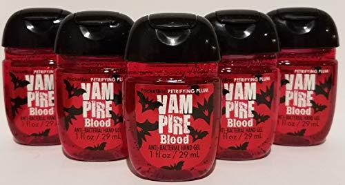 Bath and Body Works 5 Pack Pocketbac Hand Sanitizer Vampire Blood (Plum) 1 -