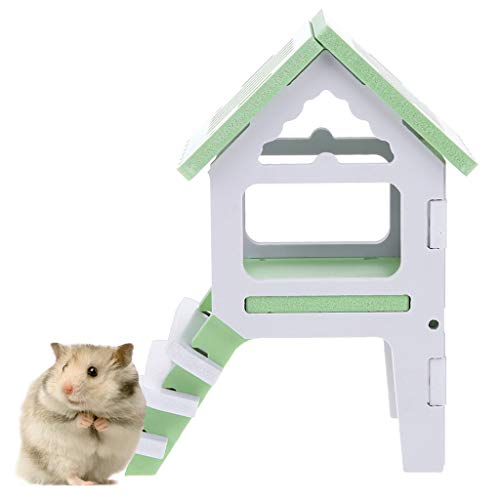 OUBAO Small Animal Toys Pet Mouse Ladder Toy Entertainment House Color Hamster Wooden Toy Sport Ladder