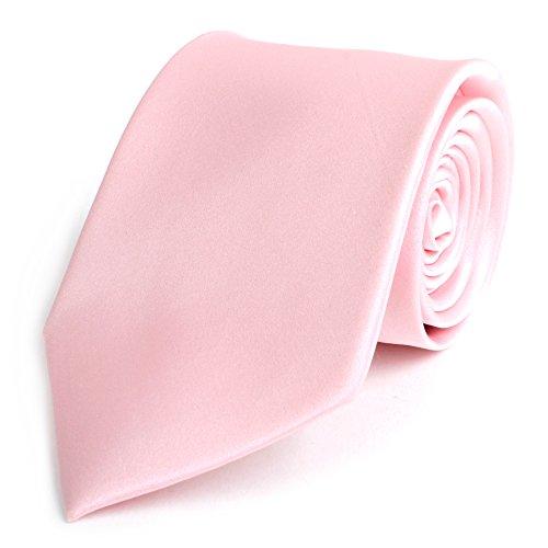 Men's Solid Pink Silk Tie