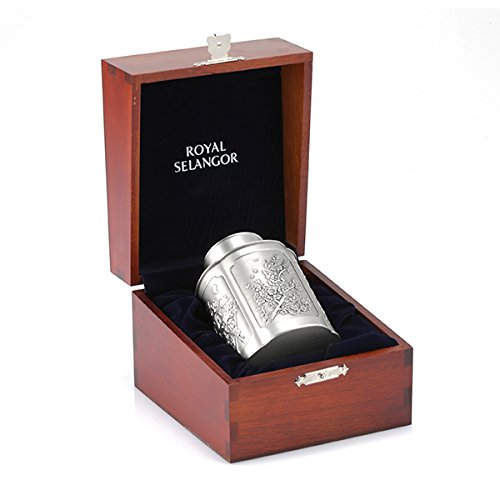 Royal Selangor Hand Finished Four Seasons Collection Pewter Airtight Tea / Coffee Caddy (S) in Wooden Gift Box by Royal Selangor