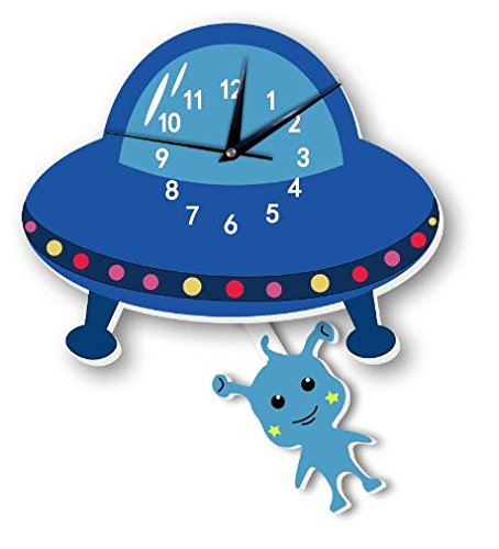 Nordic hot alien wall clock wall background children room cartoon decoration (5) by Sportskindom
