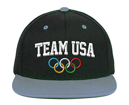 Team USA Snapback-Black-Gray ()