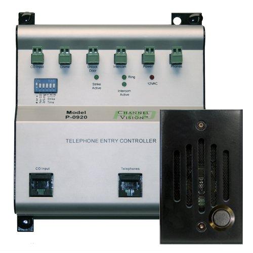 Channel Vision CVTE02-CVTE0282 Phone Entry Controller Kit, Black Channel Vision Intercom