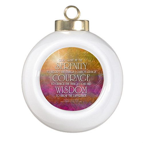 Ke kola Personalised Christmas Tree Decoration Serenity Courage Wisdom Christmas Ball Ornaments With Pictures