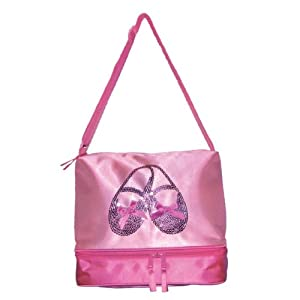 Horizon Dance 3402 Satin and Sequins Ballet Shoes Tote Bag for Little Girls