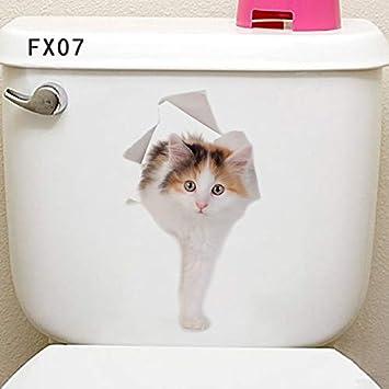 Loch Ansicht Katzen Hund Hamster 3D Wand Aufkleber Bad Wc ...