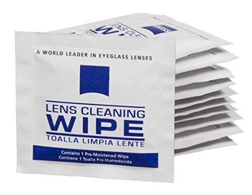 Lens Cleaning Wipes, Pre Moistened Cleansing Cloths Great for Eyeglasses, Tablets, Camera Lenses, Screens, Keyboards and Other Delicate Surfaces - 200 Individually Wrapped Wipes