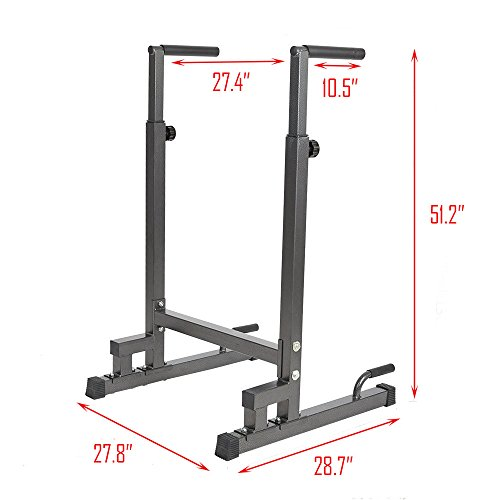 Livebest Heavy Duty Adjustable Power Tower Multi-Function Strength Training Dip Stand Workout Station Fitness Equipment for Home Gym by Livebest (Image #1)