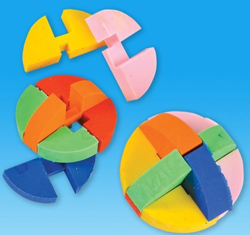 1.5 inches Puzzle Ball Eraser, Case of 288 by DollarItemDirect