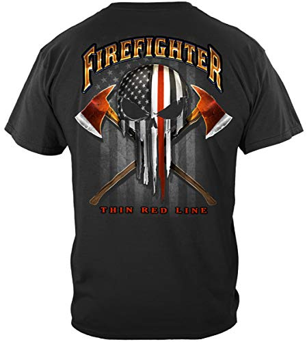 - Erazor Bits fire Fighter Shirts | American Pride Firefighter Skull of Freedom Shirt FF2396M