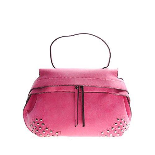 Viviesta Women's Faux Suede Studded Bottom Metal Rivets Large Shoulder Bag Handbag