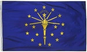 All Star Flags 4x 6'Indiana Nylon bandera de Estado–todo tipo de clima, durable, bandera de Nylon al aire libre–All Star banderas