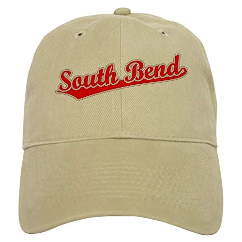 CafePress Retro South Bend (Red) Baseball Cap with Adjustable Closure, Unique Printed Baseball - Baseball South Bend