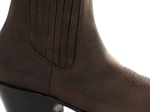 Pelle Smerigliatrici In Originali Nove Stivali Da Cane Sciolto Stivali Uomini Marrone Cowboy dUAqdxIw