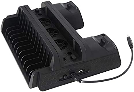 DOBE TP4-882 PS4 Vertical Base Charging Dock Joypad Playstation 4 Cooling Fan: Amazon.es: Electrónica
