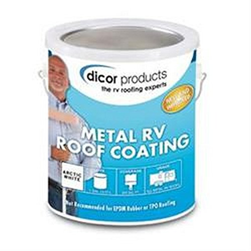 DICOR CORP RV Trailer 1gal ELASTOMERIC Coating Roof Coating