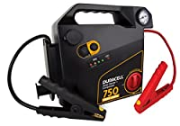 Duracell Portable Emergency Jumpstarter with Compressor, 750 Peak Amps