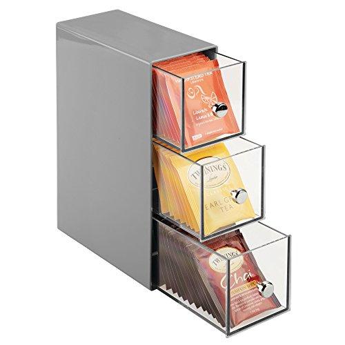 mdesign boite de rangement cuisine avec 3 tiroirs casier de rangement pour s ebay. Black Bedroom Furniture Sets. Home Design Ideas