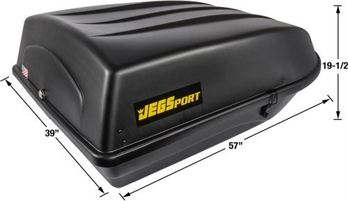 18 cu JEGS Performance Products 90098 Rooftop Cargo Carrier Capacity ft.