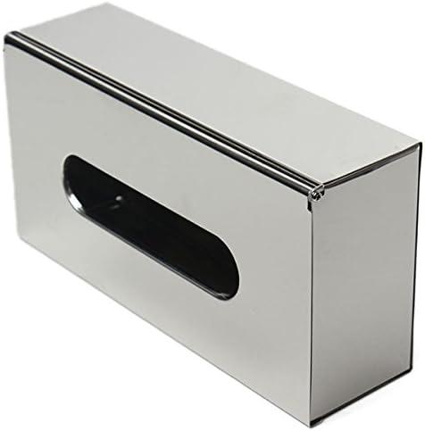 Sorliva - Caja de papel de baño de acero inoxidable, caja de pañuelos de papel cuadrado para tocador de baño, tocador, mesitas de noche, escritorios y mesas: Amazon ...