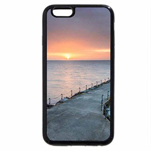 iPhone 6S / iPhone 6 Case (Black) long stone wharf at sunset