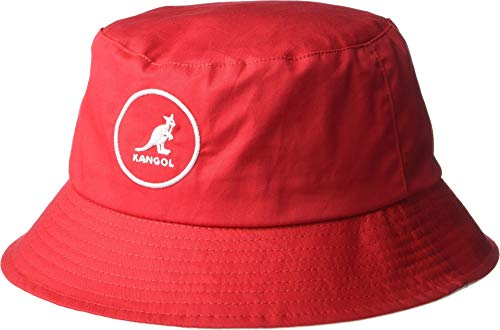 Kangol Men's Cotton Bucket, Rojo, X-Large